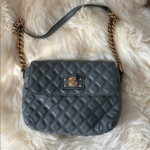 Marc Jacobs grey quilted chain bag purse